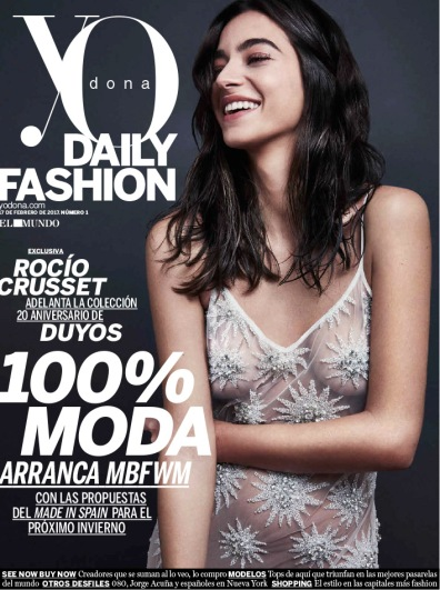 ROCÍO CRUSSET FOR YO DONA DAILY COVER